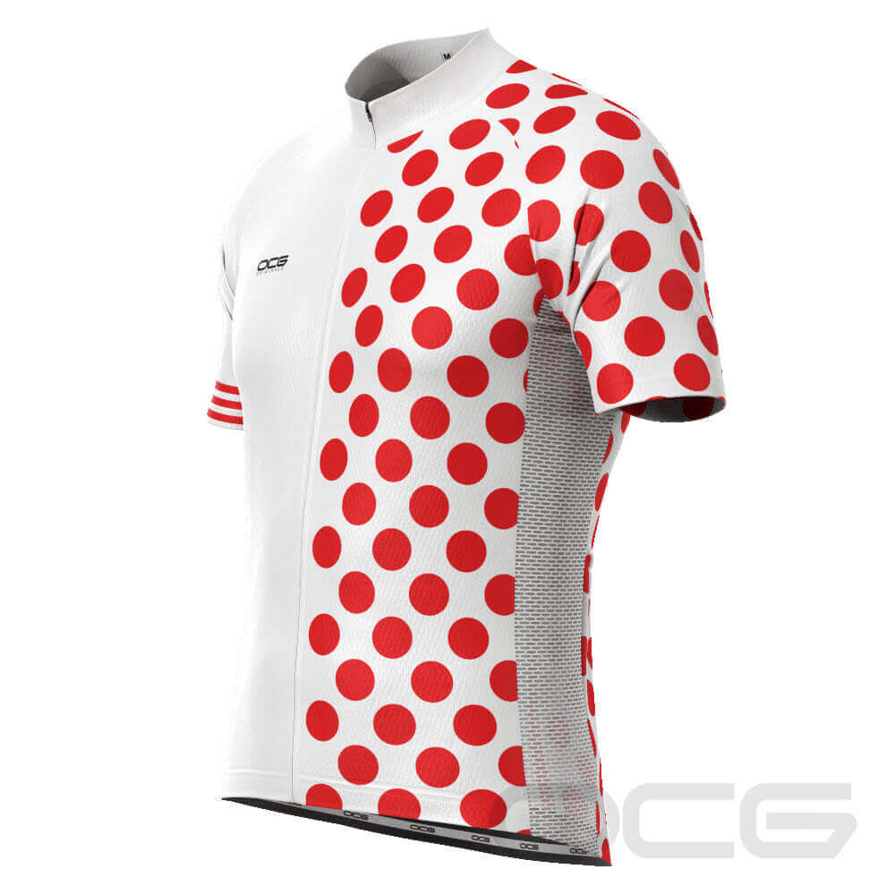 Men's King of The Mountain Polka Dot Cycling Jersey