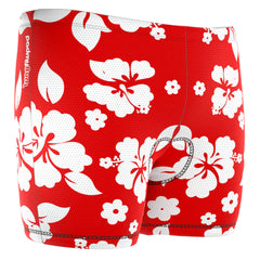 Men's Hawaiian Hibiscus Padded Cycling Underwear
