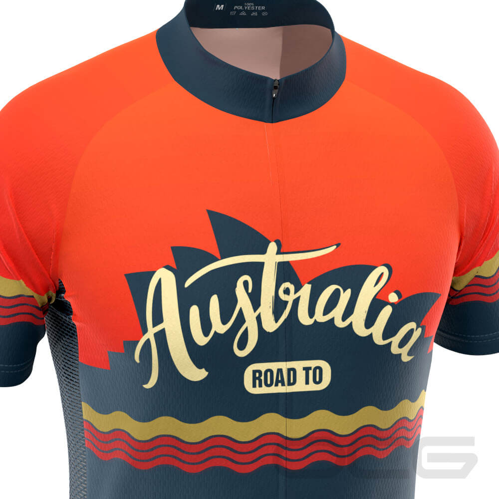Men's Road to Australia Short Sleeve Cycling Jersey