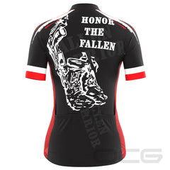 Women's Honor the Fallen USA Flag Cycling Jersey