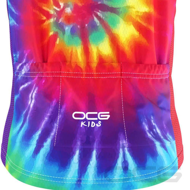 Kid's Tie Dye Short Sleeve Cycling Jersey