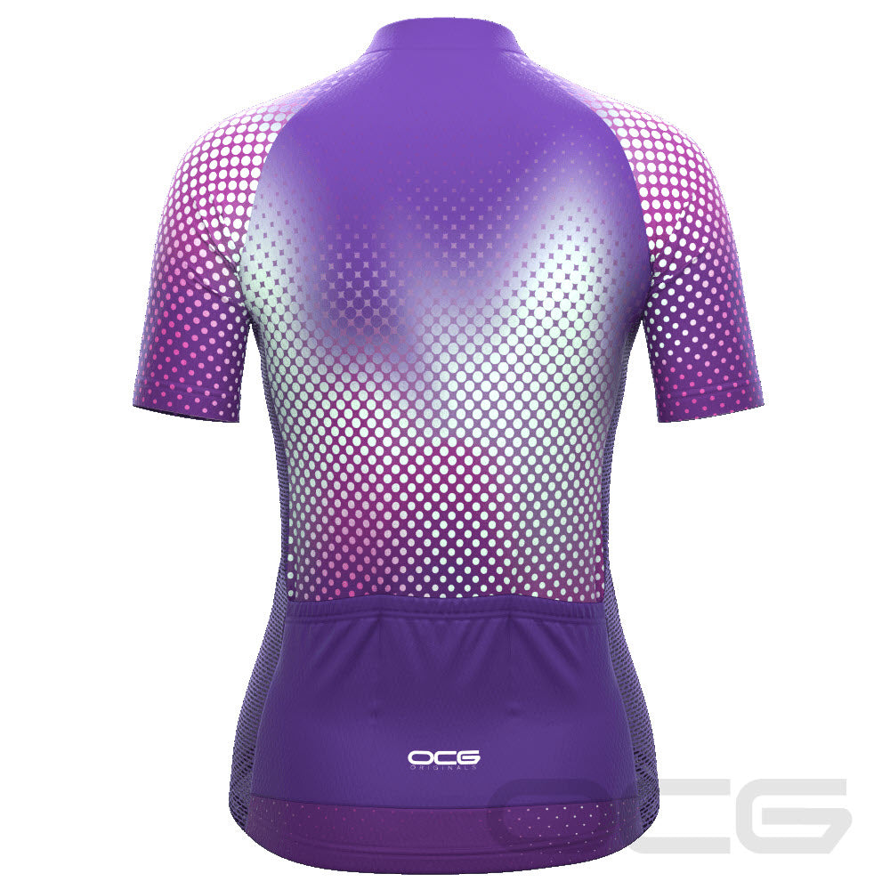 Women's Disco Dots Short Sleeve Cycling Jersey