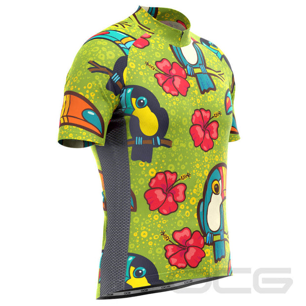 Men's Tucan Hibiscus Short Sleeve Cycling Jersey