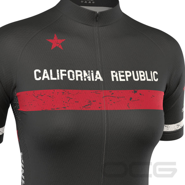 Women's California Republic Short Sleeve Cycling Jersey