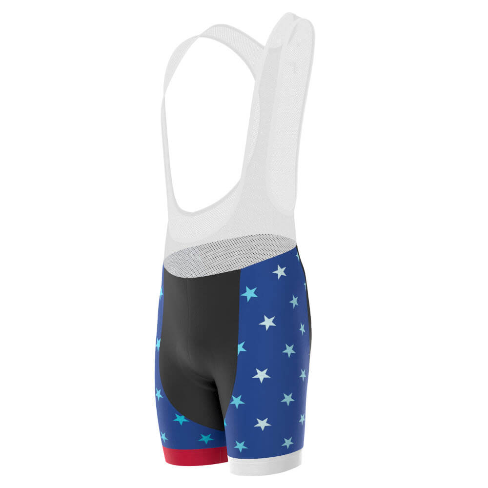 Men's USA American Flag Pro-Band Cycling Bib