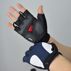Half Tone Fingerless Gel Padded Cycling Gloves