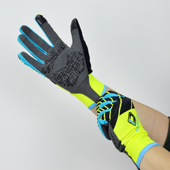 DV Neon Touch Screen Gel Padded Winter Cycling Gloves
