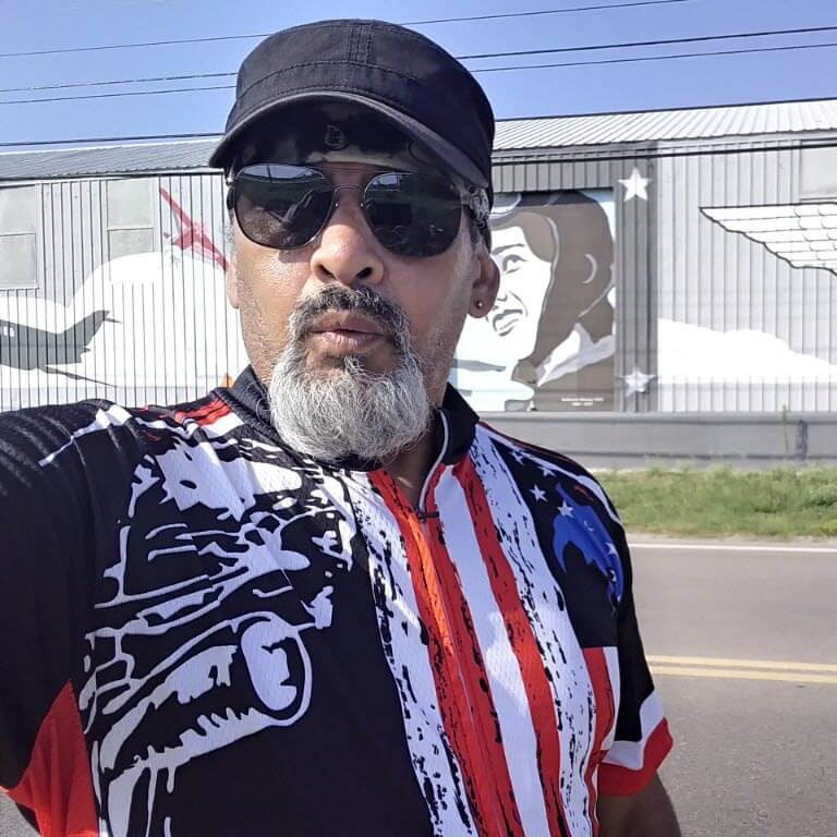 Men's Honor the Fallen Warrior USA Flag Cycling Jersey