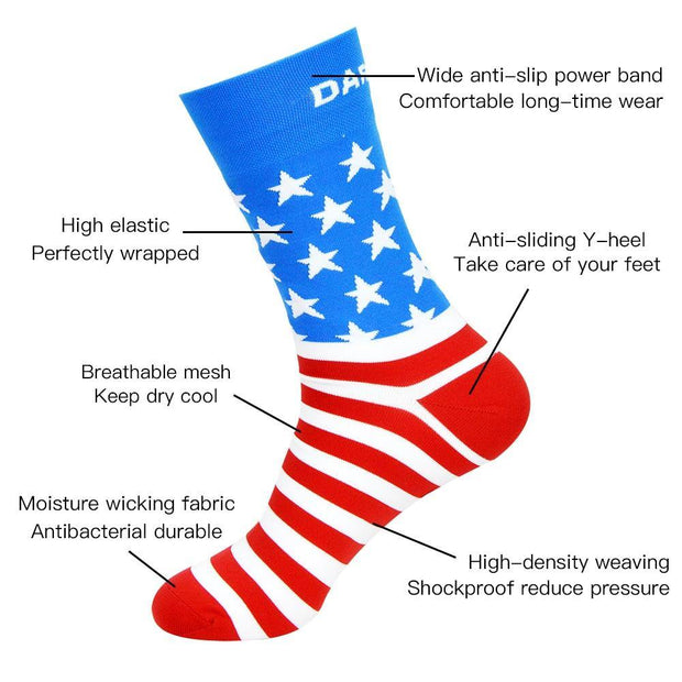 DV American Stars Pro Breathable Cycling Socks