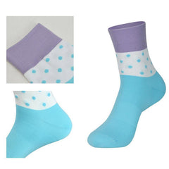 DV Unisex Blue Polka Dot Mid-Length Pro Cycling Socks