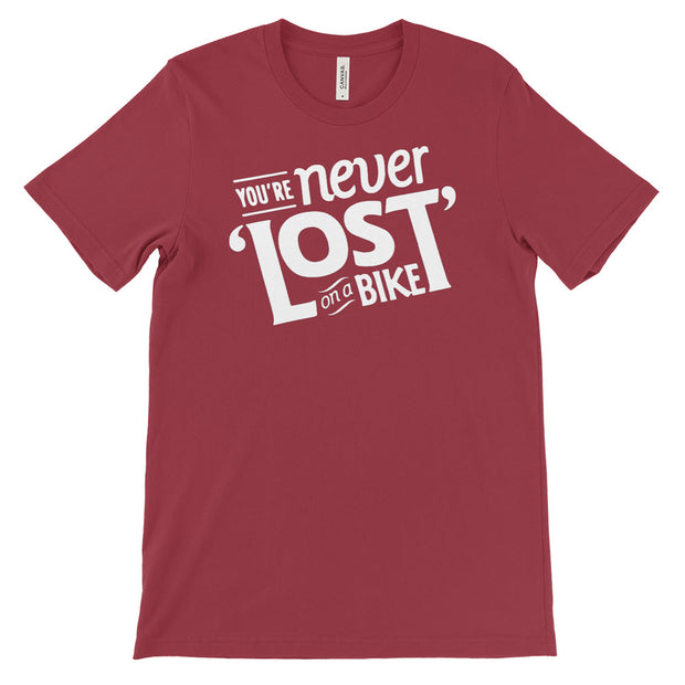 Men's You're Never Lost on a Bike Cycling T-Shirt