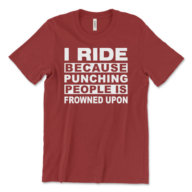 Men's I Ride To Not Punch People Cycling T-Shirt