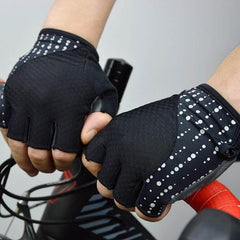 DV Reflective Gel Padded Half Finger Cycling Gloves