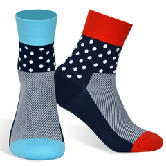 DV Polka Dot Mid-Length Pro Cycling Socks
