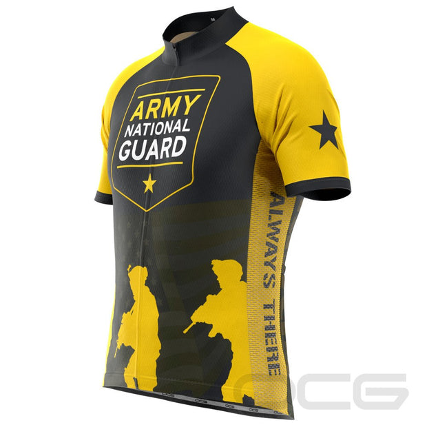 Men's US Army National Guard Short Sleeve Cycling Jersey