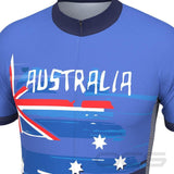 Men's Australian Flag Short Sleeve Cycling Jersey