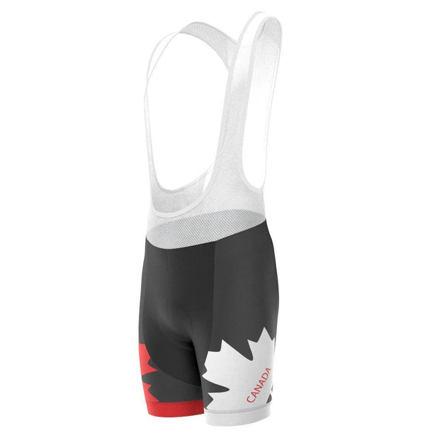 Men's Canada Flag Maple Leaf Pro-Band Cycling Bibs