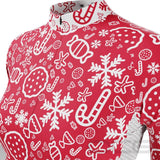 Women's Christmas Candy Long Sleeve Cycling Jersey