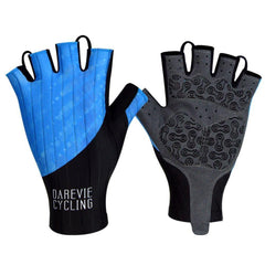 DV Blue Bubble Half Finger Gel Padded Cycling Gloves