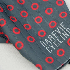 DV Red Circle Half Finger Gel Padded Cycling Gloves