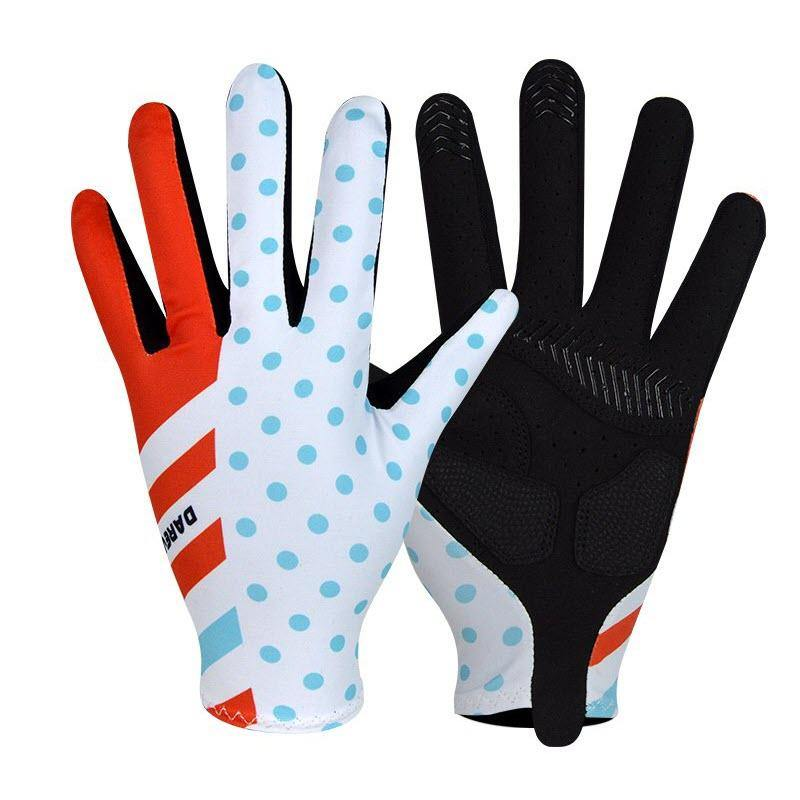 DV Polka Dot Unisex Full Finger Winter Cycling Gloves - Online Cycling Gear