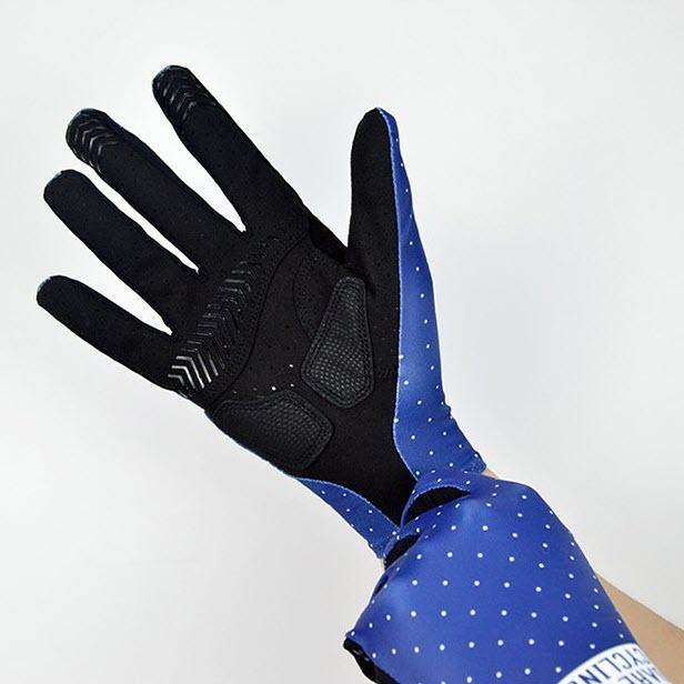 DV Blue Dot Unisex Full Finger Winter Cycling Gloves - Online Cycling Gear