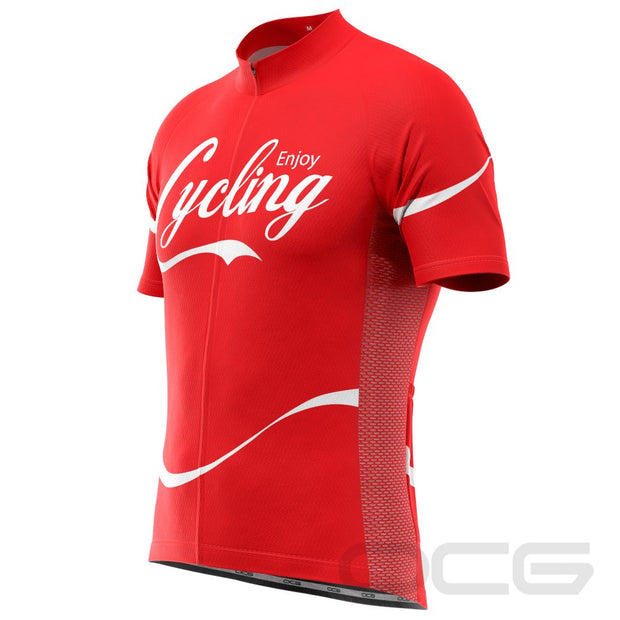 Men's Enjoy Cycling Short Sleeve Cycling Jersey