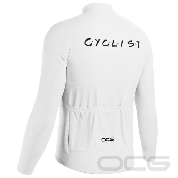 Men's Friends Cyclist Long Sleeve Cycling Jersey