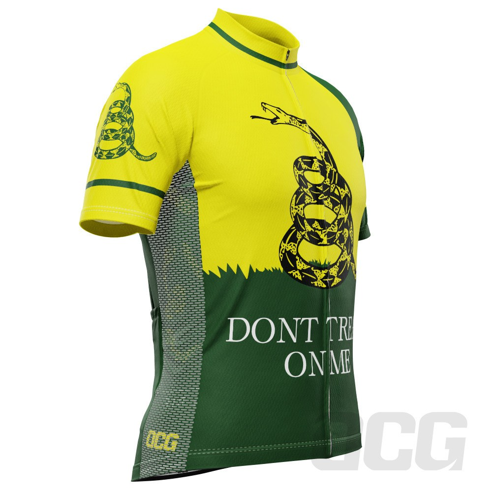 Men's Gadsden Flag Join or Die Historic Short Sleeve Cycling Jersey