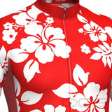 Hawaiian Shirt Aloha Floral Long Sleeve Cycling Jersey By OCG Originals