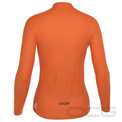 Women's High Viz Plain Colour Long Sleeve Cycling Jersey