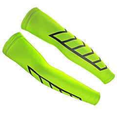 High Viz Yellow Arrow Cycling Arm Warmers By Online Cycling Gear