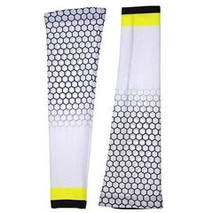 Honeycomb White Cycling Arm Warmers By Online Cycling Gear