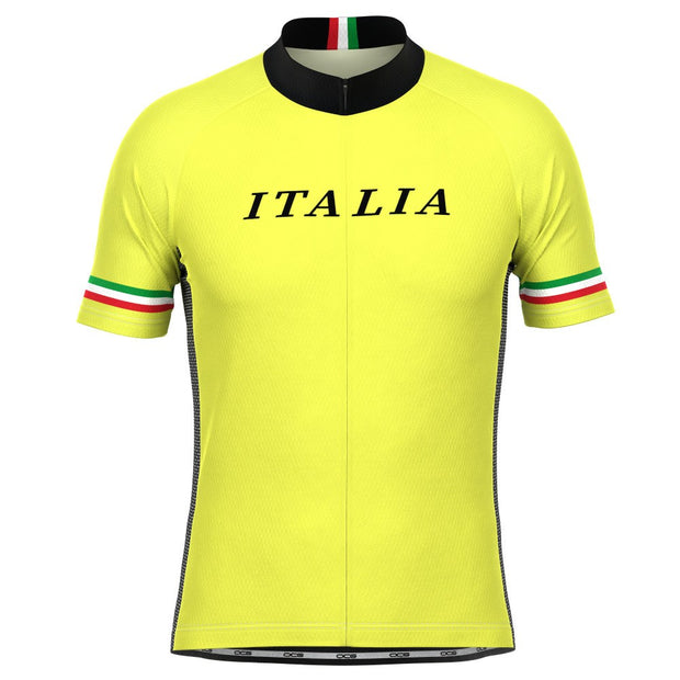 Men's High Visibility Italia Short Sleeve Cycling Jersey