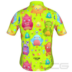 Kid's Cute Aliens Short Sleeve Cycling Jersey By OCG Kids