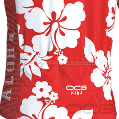 Kid's Hawaiian Shirt Aloha Short Sleeve Cycling Jersey By OCG Kids
