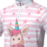 Kid's Pondering Unicorn Short Sleeve Cycling Jersey By OCG Kids