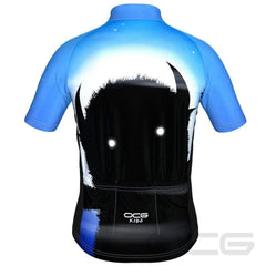 Kid's Scary Monster Short Sleeve Cycling Jersey By OCG Kids