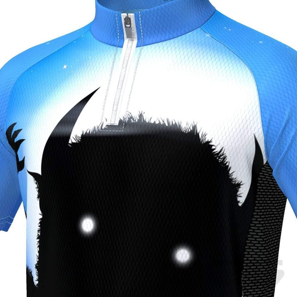 Kid's Scary Monster Short Sleeve Cycling Jersey