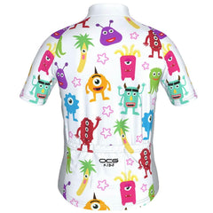 Kid's Happy Monsters Short Sleeve Cycling Jersey
