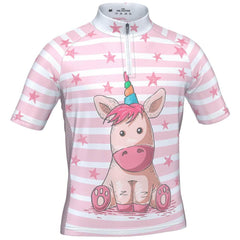 Kid's Pondering Unicorn Short Sleeve Cycling Jersey