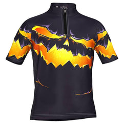 Kid's Purple Pumpkin Eater Short Sleeve Cycling Jersey