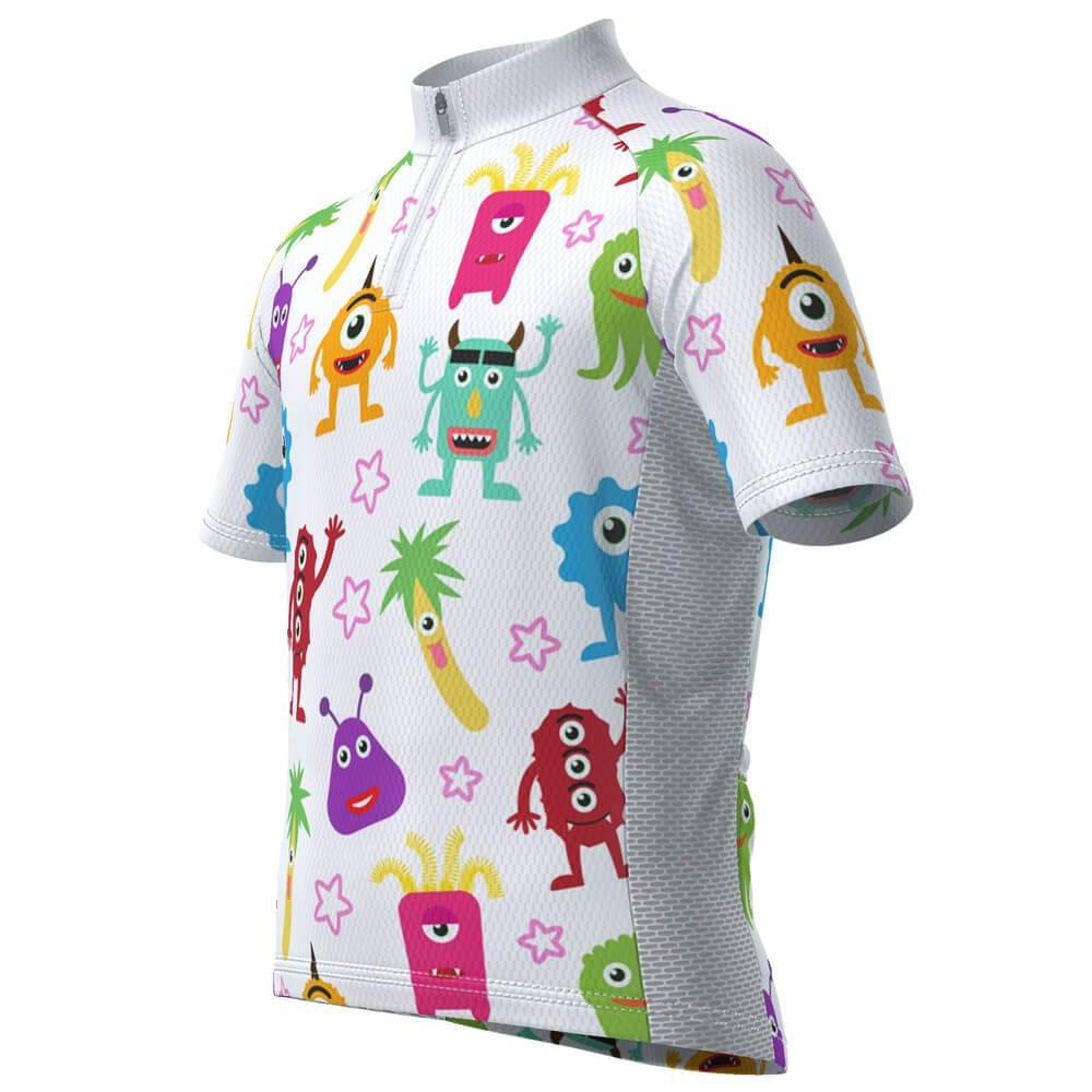 Kid's Happy Monsters Short Sleeve Cycling Jersey - Online Cycling Gear