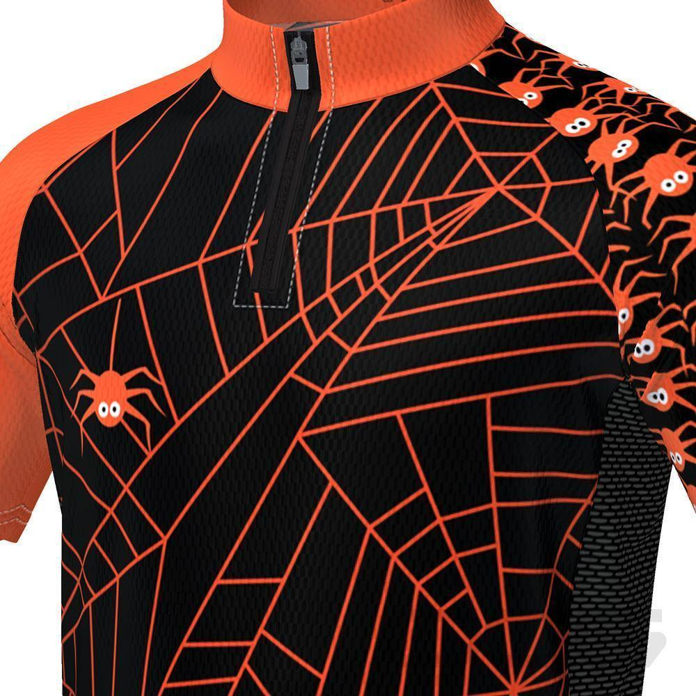 LDL Kids Spider Monster Short Sleeve Cycling Jersey