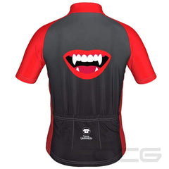 LDL Kids Vampire Lips Short Sleeve Cycling Jersey By Little Dog Laughed
