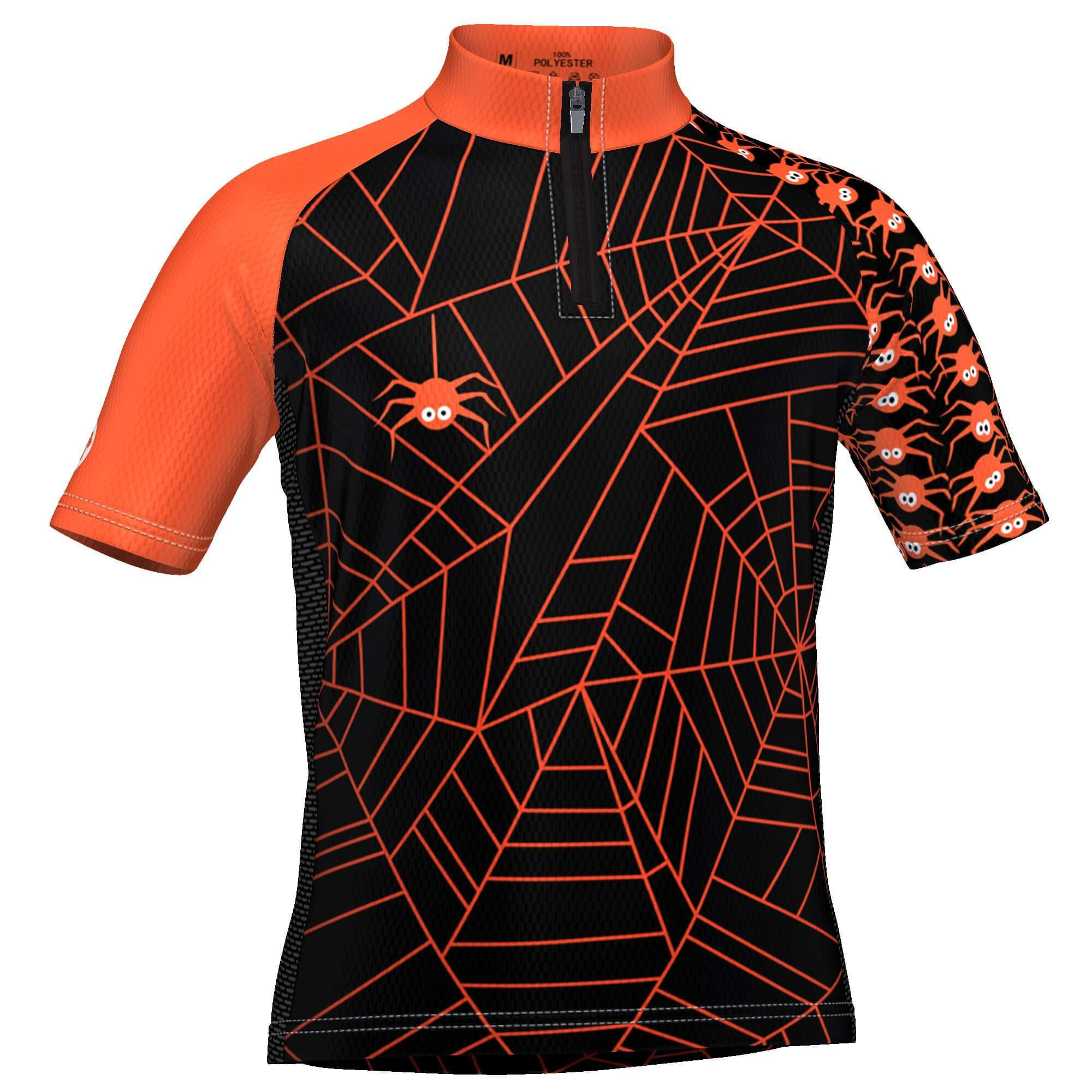 LDL Kids Spider Monster Short Sleeve Cycling Jersey - Online Cycling Gear