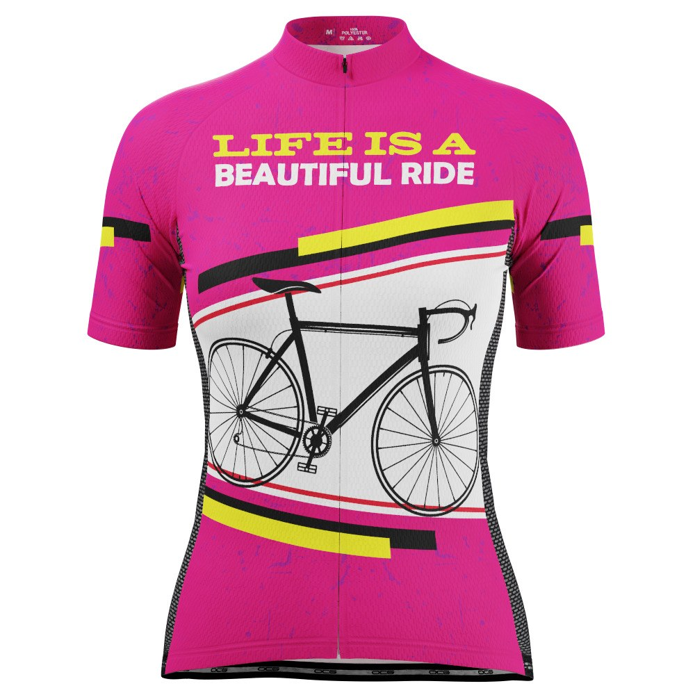 Women's Life is a Beautiful Ride Short Sleeve Cycling Jersey