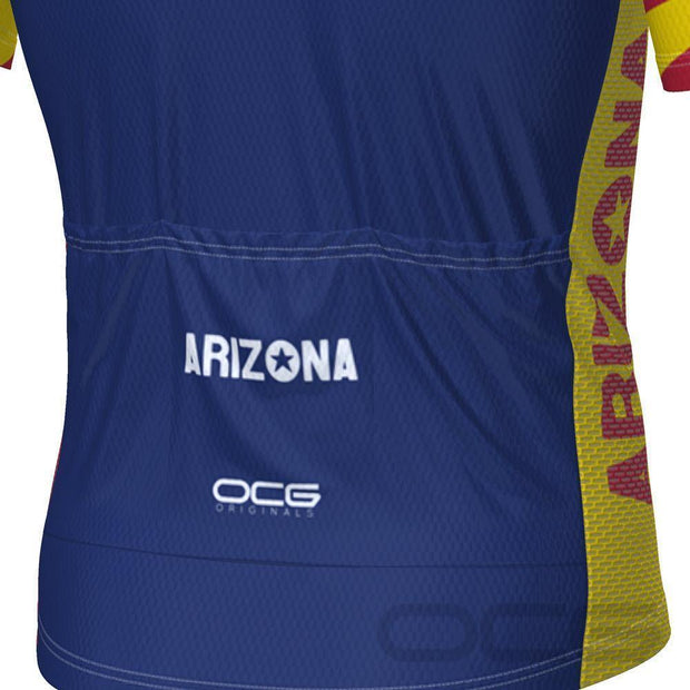 Men's Arizona State Flag Short Sleeve Cycling Jersey By OCG Originals