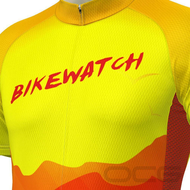Men's Bikewatch Short Sleeve Cycling Jersey By OCG Originals