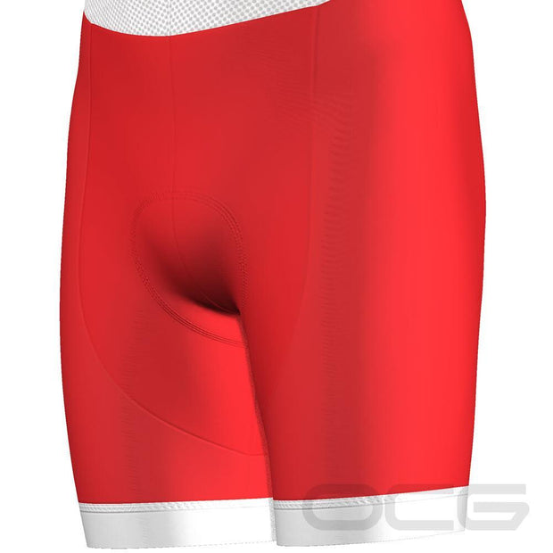 Men's Christmas Red Pro-Band Cycling Bibs By OCG Originals
